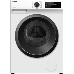 TOSHIBA 7 kg COLOR ALIVE, Drum Clean Technology, 15-Minute Quick Wash Fully Automatic Front Load with In-built Heater White(TW-J80S2-IND)