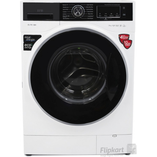 IFB 7.5 kg 5 Star Fully Automatic Front Load with In-built Heater White(Elite WX)