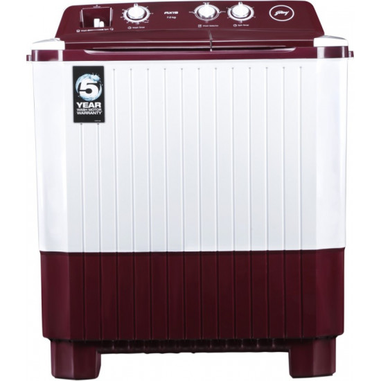 Godrej 7 kg Semi Automatic Top Load Red, White(WS AXIS 7.0 WNRD PN2 T)